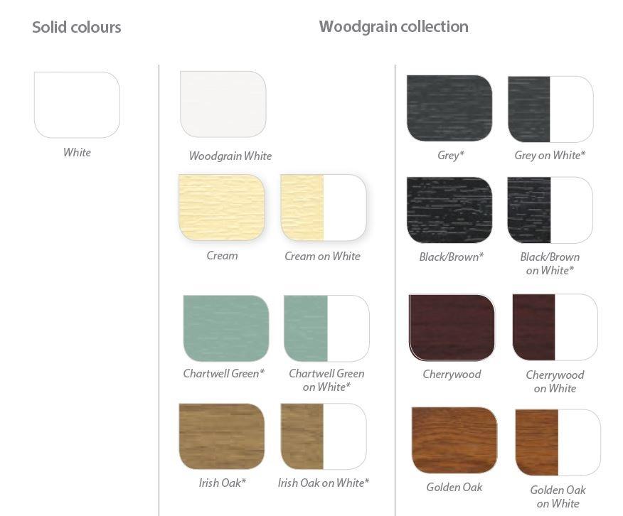 upvc sash windows colours