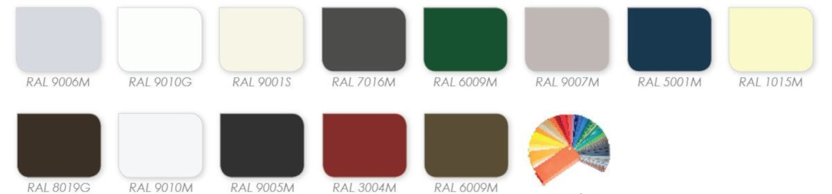 aluminium casement windows colours