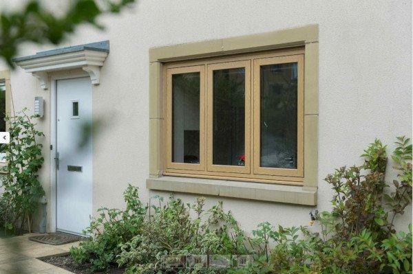 flush casement windows wood effect