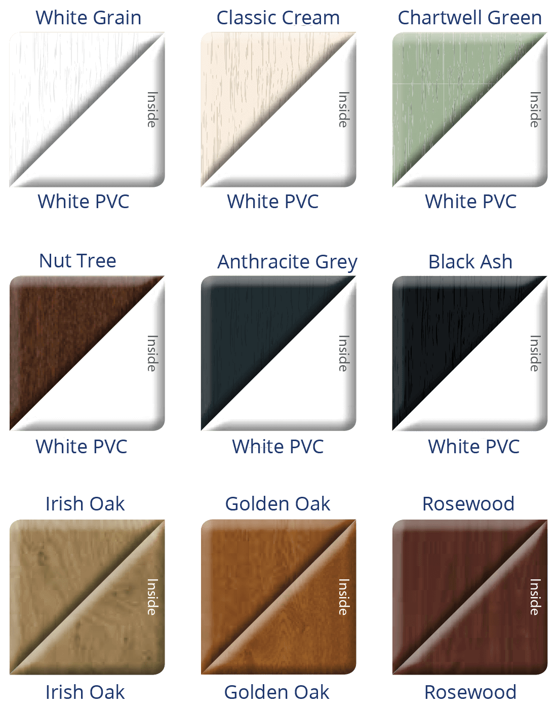 uPVC Patio Doors Colours 1